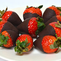 Melting Chocolate for Strawberries